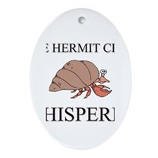 The Hermit Crab Whisperer Oval Ornament
