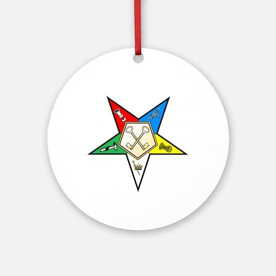 OES Treasurer Ornament (Round)