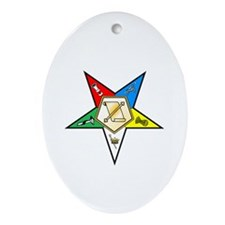 OES Conductress Oval Ornament