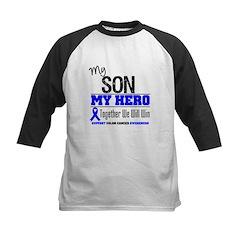 ColonCancerHero Son Kids Baseball Jersey