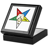 Eastern star sentinel Square Keepsake Boxes