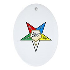 OES Warder Oval Ornament