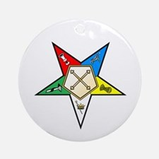 OES Marshal Ornament (Round)