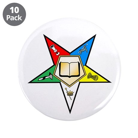 "OES Chaplain 3.5"" Button (10 pack)"