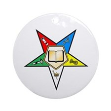 OES Chaplain Ornament (Round)