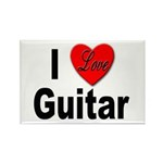 I Love Guitar Rectangle Magnet (10 pack)