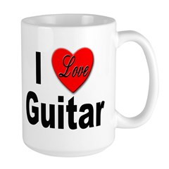 I Love Guitar Large Mug