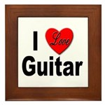 I Love Guitar Framed Tile
