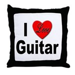 I Love Guitar Throw Pillow