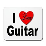I Love Guitar Mousepad
