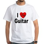 I Love Guitar (Front) White T-Shirt