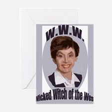 nancy pelosi wicked witch Greeting Cards (Pk of 10