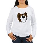 Big Nose/Butt Papillon Women's Long Sleeve T-Shirt