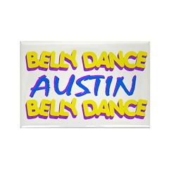 Belly Dance Austin Texas Rectangle Magnet (10 pack