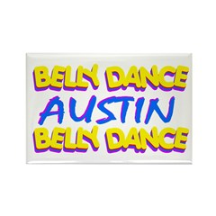 Belly Dance Austin Texas Rectangle Magnet (10 pack