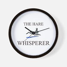 The Hare Whisperer Wall Clock