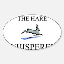 The Hare Whisperer Oval Decal