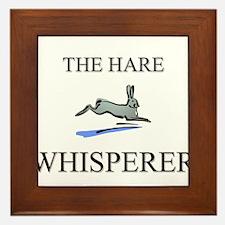 The Hare Whisperer Framed Tile