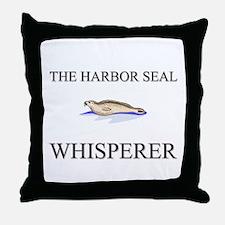 The Harbor Seal Whisperer Throw Pillow