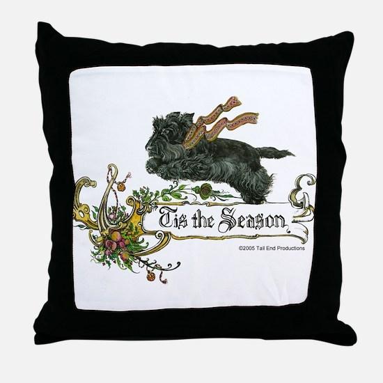 Scottish Terrier Season Throw Pillow