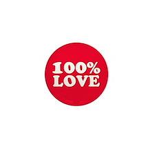 100% LOVE Mini Button