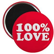 "100% LOVE 2.25"" Magnet (10 pack)"