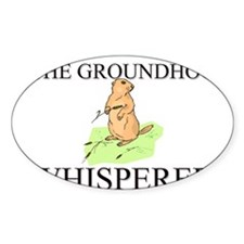 The Groundhog Whisperer Oval Decal