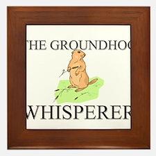 The Groundhog Whisperer Framed Tile