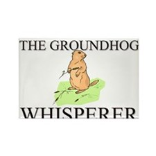 The Groundhog Whisperer Rectangle Magnet