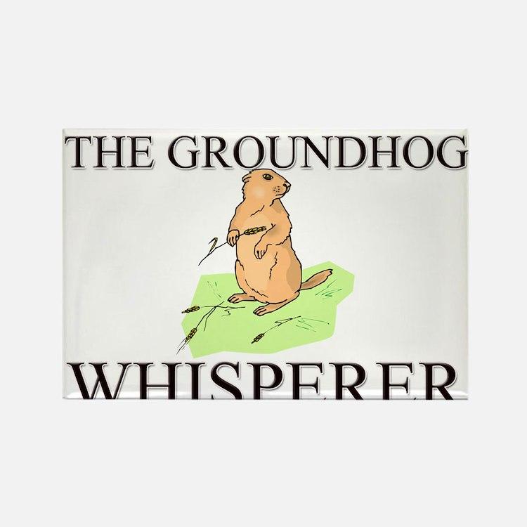 The Groundhog Whisperer Rectangle Magnet