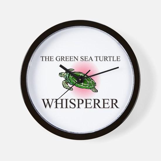 The Green Sea Turtle Whisperer Wall Clock