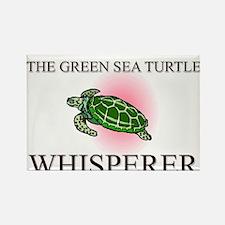 The Green Sea Turtle Whisperer Rectangle Magnet