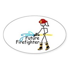 Future Firefighter Oval Decal