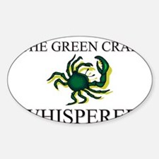 The Green Crab Whisperer Oval Decal