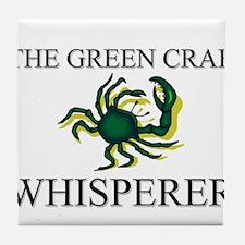 The Green Crab Whisperer Tile Coaster