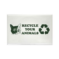 Recycle your animals Rectangle Magnet