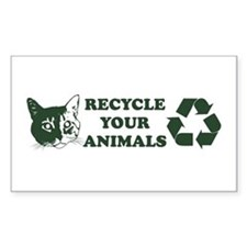 Recycle your animals Rectangle Decal