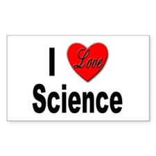 I Love Science Rectangle Decal