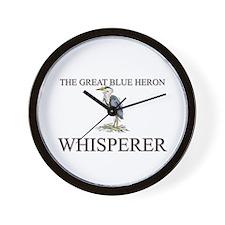 The Great Blue Heron Whisperer Wall Clock