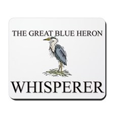 The Great Blue Heron Whisperer Mousepad