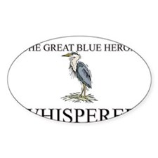The Great Blue Heron Whisperer Oval Decal