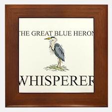 The Great Blue Heron Whisperer Framed Tile