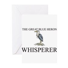 The Great Blue Heron Whisperer Greeting Cards (Pk
