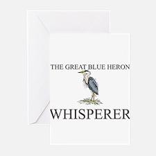 The Great Blue Heron Whisperer Greeting Cards (Pk