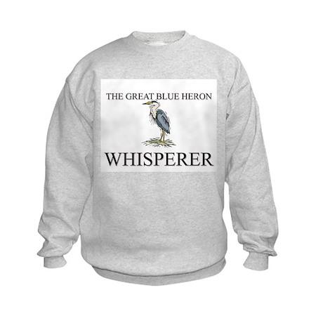 The Great Blue Heron Whisperer Kids Sweatshirt