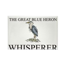 The Great Blue Heron Whisperer Rectangle Magnet