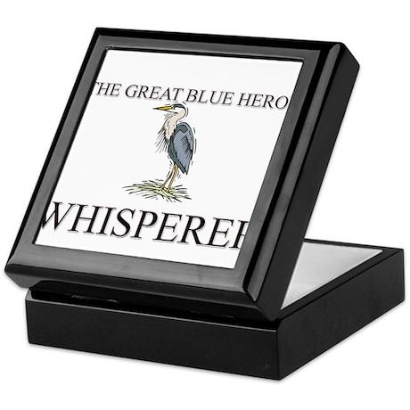 The Great Blue Heron Whisperer Keepsake Box