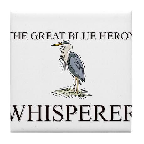 The Great Blue Heron Whisperer Tile Coaster