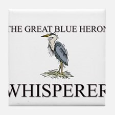 The Great Blue Heron Whisperer Tile Coaster