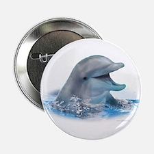 "Happy Dolphin 2.25"" Button"